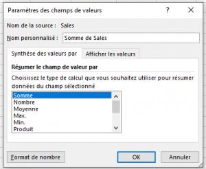 Tableaux Croises Dynamiques Fonctions De Synthese Des Valeurs Xl Business Tools