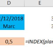 Extraire des données dans un Tableau Excel avec INDEX-EQUIV
