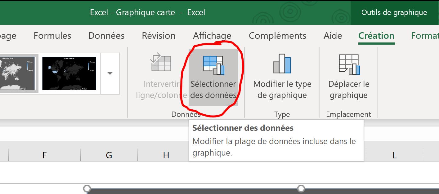 Excel graphique carte dynamique
