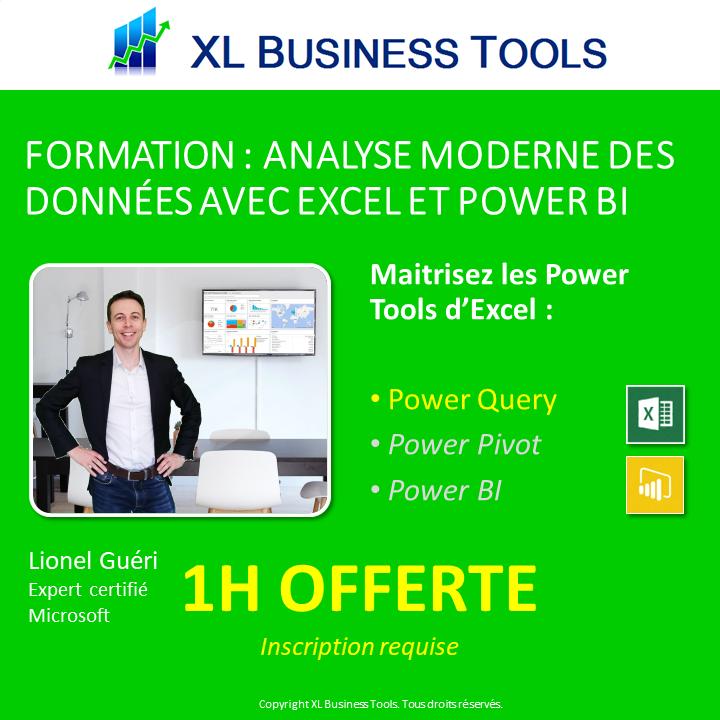 Maîtrisez vos données avec Excel et Power BI - une heure gratuite