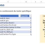 Comment calculer une somme avec Excel avec un critère contient ou commence par du texte