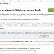 Macro VBA – Diagnostiquer les tableaux croisés dynamiques d'un classeur Excel
